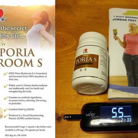 Poria S cukorbetegség kezelésében