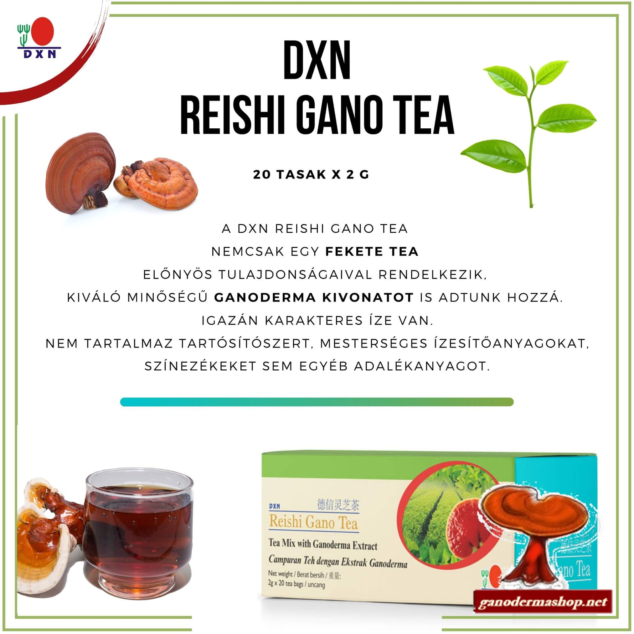 Reishi gao gyógytea ganodermashop.net