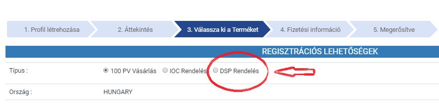 Ingyenes regisztráció DSP csomaggal